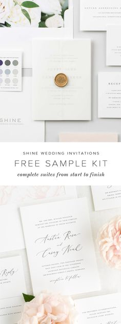 Shine Wedding Invitations is here to meet all of your stationery needs from start to finish. Experience our unmatchable quality and clean elegant and timeless design in person. Request a wedding invitation free sample kit to feel the difference. Free Wedding Invitation Samples, Shine Wedding Invitations, Wedding Stationary, Fall Wedding, Diy Wedding, Wedding Tips, Perfect Wedding, Dream Wedding, Elegant Wedding