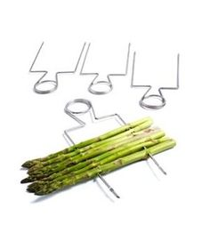 Wholesale 4pcs Stainless steel BBQ grill Clips Stainless Veggie Raft Double Wide Skewers For asparagus espeto para churrasco