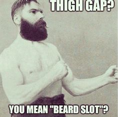 Man, this is hilarious, I can't help it, though, I think thigh gaps are so ugly lol