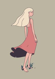 Thea Glad is a freelancer illustrator and Animator from Norway. With simple lines and shapes, she captures characters in a very expressive way.