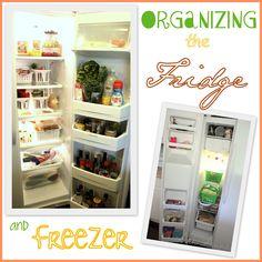 Tips for organizing the fridge and freezer. #organize http://www.askannamoseley.com