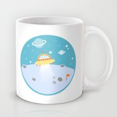 Cute outer space mug on society6