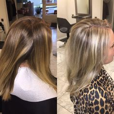 Blonde coupe soleil Before and after