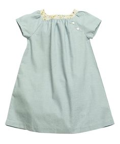 Look at this Blue Fern Chambray Aimee Dress - Girls on #zulily today!