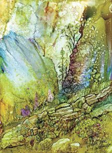 A demonstration of alcohol inks by artist Carol Ann Rasmussen will highlight a meeting of the Delta Fine Arts group at 2 p.m. Monday at the AppleShed, 250 S. Grand