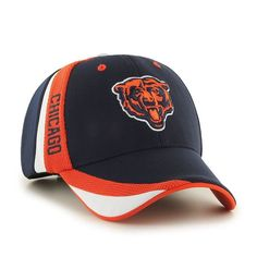 47 Brand Chicago Bears Neutral Zone Adjustable Hat Polyester   cotton  blend Structured fit  dc0e73c63