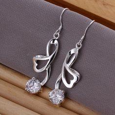 DUMAN Fashion Jewelry 925 Silver Plated Earrings  ($8.41)