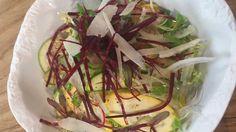 Receta de ensalada de calabacines con cecina
