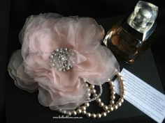 Pink Silk Organza Rose