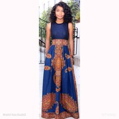 Yara Shahidi -Love this custom designed skirt by Melange Mode! #TVYoungHollywood @TeenVogue