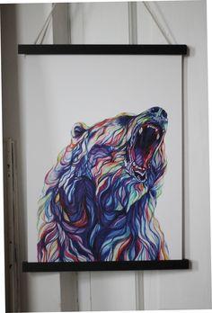 Bear Print Irish Store, Bear Print, Art Prints, Cool Stuff, Night, Artwork, Painting, Art Impressions, Work Of Art