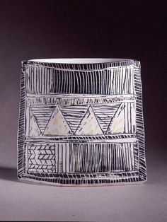 Porcelain envelope vase 1998 by Priscilla Mouritzen