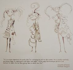 Tim Burton illustrations and Colleen Atwood text for Alexander McQueen FW2002 Fashion Show Invitation