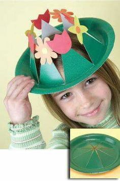These Easter Bonnets are so easy to make. They are perfect for the Easter Bonnet or Easter Hat Parade. All of these Easter Hats can be modified to use whatever materials or supplies you have available to you. Easter Activities, Easter Crafts For Kids, Toddler Crafts, Preschool Crafts, Crazy Hat Day, Crazy Hats, Paper Plate Hats, Paper Hats, Easter Hat Parade
