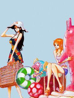 One Piece - Nami, Robin, Chopper