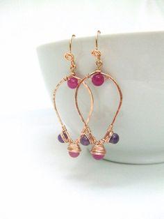 Copper Earrings Egyptian Earrings Copper by deannewatsonjewelry, $18.95