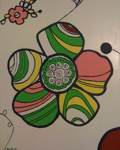This was the second of 2 pieces I painted for my little sister, Lauren to go with her bedroom motif.