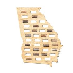 A truly unique gift idea for the wine drinker and a great way to commemorate those special occasions.  The perfect gift for those who love their state Georgia and wine. Georgia Wine Cork Sign - Premier Home & Gifts