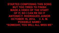 COMPOSING A SONG, Oct  19, 2014, by Antonio F  Rodrigues Junior,