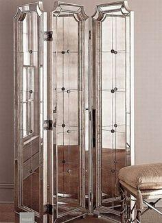 paravent glamour orné de miroirs