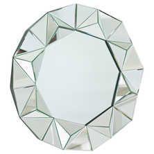 Faceted rim mirror