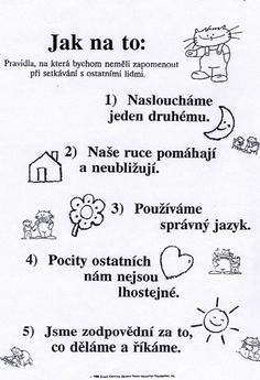 Výsledek obrázku pro pravidla chování ve škole Classroom Management, Crafts For Kids, Preschool, Language, Bullet Journal, Songs, Teaching, Education, Blog