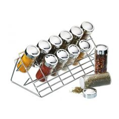 2012 new design clear glass cruet jar sets with rack for sale – glass spice set with rack manufacturer from china Cabinet Spice Rack, Wall Mounted Spice Rack, Spice Storage, Storage Racks, Easy Storage, Food Storage, Spice Rack With Jars, Spice Jar Set, Revolving Spice Rack
