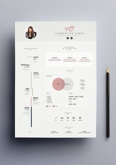 Création de mon curriculum vitæ. More | CV & Resume Design | Pinterest / Resume / Creative / Effective / Design / Designer / Minimalist / Minimal / Template /