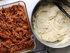 tamales: saucy pork and not-so-secret-ingredient tamal