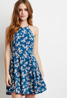 Lace-Paneled Floral Print Dress | Forever 21 - 2000096460 - $22.90