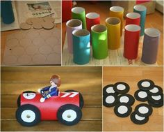Mechanics car craft - indoor activity for transport party. Crafts To Do, Diy Crafts For Kids, Projects For Kids, Easy Crafts, Craft Projects, Arts And Crafts, Craft Kids, Creative Crafts, Toilet Paper Crafts