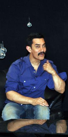 Aamir Khan in his new mustache look