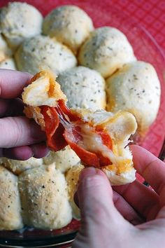 Pizza Balls...perfect bites, and oh so easy to make! For football Sundays :)