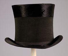 Mourning top hat Knox Date: 1890 Culture: American Medium: Silk, fur, cotton