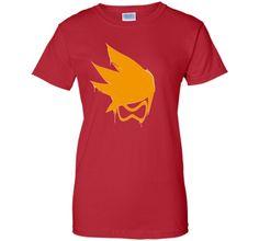 Overwatch Tracer Orange Spray Tee Shirt