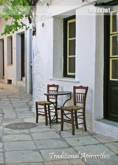 Traditional Apiranthos village, Naxos.