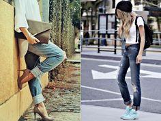 Exibindo conceitos do estilo grunge da década de 90, a calça Boyfriend apresenta ainda como diferencial em seu design detalhes em destroyed jeans e/ou lavagens diferenciadas, relembrando um jeans surrado.