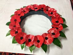 Anzac day wreaths - potato prints with poppy seeds | ANZAC Day ...