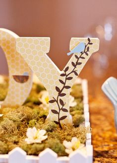 Birds and Bees Baby Shower ~ Love this idea of the bee's being incorperated into the theme but not in your face black and yellow.