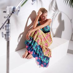 Warm wind on our skin, dancing under the stars, soft sand under our feet. Undercolors Benetton SS17 beachwear dress
