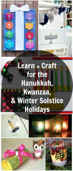 Learn + Craft for Hanukkah, Winter Solstice, & Kwanzaa Crafts 🧶 Yule Crafts, Hanukkah Crafts, Holiday Crafts For Kids, Hannukah, Holiday Fun, Kid Crafts, Christmas Holiday, Holiday Parties, Christmas Ideas