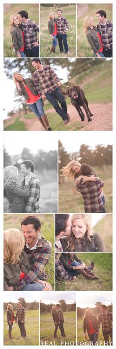 Rural setting engagement photo ideas