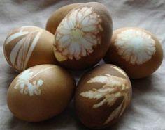 Black Tea Dyed Easter Eggs
