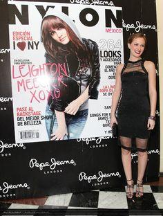 Nossa mega-diva-musa Blair Waldorf Leighton Meester na festa da Nylon Mexico…