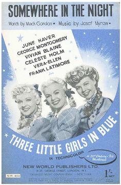 JOSEF MYROW - SOMEWHERE IN THE NIGHT - 1946 - FILM THREE LITTLE GIRLS IN BLUE