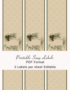 Printable Soap Labels