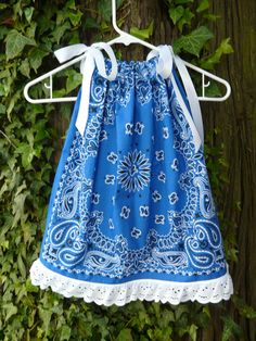 Royal Blue Bandana Dress/ Swing Top w/ eyelet by BandannaMommas, $22.00