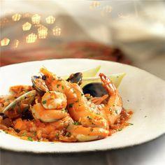 ZARZUELA DE MARISCO. Shrimp, Chips, Fish, Meat, Recipes, Gastronomia, Fish Recipes, Spanish Food, One Pot Dinners