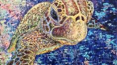 Sir Turtle, oil on canvas, available Palette Knife Painting, Oil On Canvas, Turtle, Paintings, Turtles, Paint, Painted Canvas, Tortoise Turtle, Painting Art