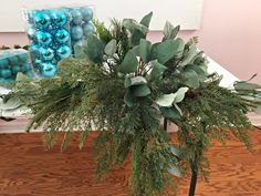 A blogger puts 3 nails in a block of foam—look at her amazing idea for your Christmas mantel!
